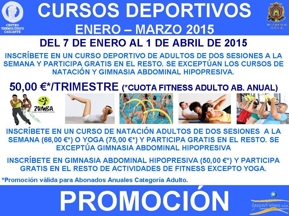 Promoci n cursos deportivos enero marzo 2015 centro for Clases de natacion df